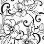 Papel De Parede Floral Preto Branco Adesivo Lavável Vinílico
