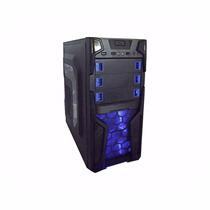 Gabinete Gaming K-mex 3 Baias Cg-07t3 Blade Preto Led Azul