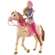 Barbie Saddle Y Su Caballo Cld93 - Crema