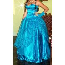 Alquiler De Vestido 15 Años, Azul, 3 Piezas