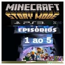 Minecraft Story Mode Episódios 1 Ao 5 - Ps3 Midia Digital