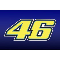 Adesivo 46 Valentino Rossi! Alta Qualidade!!! Pronta Entrega