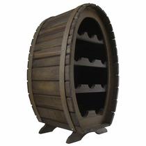 Adega Colonial Rústica Para 11 Garrafas - Vinho - Barril