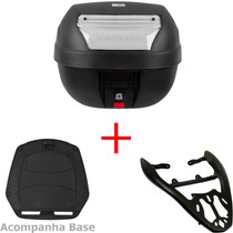 Bau Moto 28 L Cristal + Bagageiro Fan 125 Ks Es Esd 2014/15