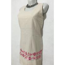 Vestido De Lino Huipil Con Bordados