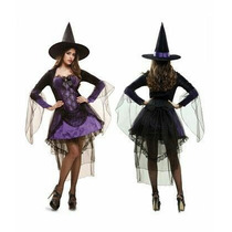 Disfraz Mujer Bruja Halloween Noche Party Glamour