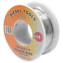 Estaño Con Núcleo Resina Marca Diesel Tools 0.8 Mm Peso 230g