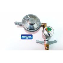Regulador Registro Gás Imar C/manômetro Horizontal Cód 2040