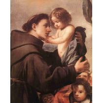 Lienzo Tela San Antonio De Padua Arte Sacro 63 X 50cm Poster