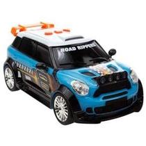Carrinho Road Rippers Skidders - Mini Cooper - Azul - Dtc