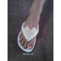 Sandálias Chinelos Customizados Personalizados Com Pérolas