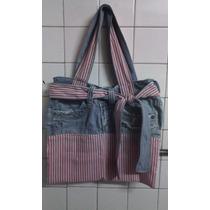 Bellos Bolso De Jeans Y Tela Practicos