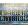Plantillas_ Stencil Para Pintar :juego De Numeros 0-9_ 3 Cms