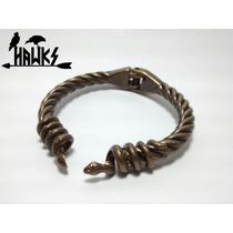 Bracelete Pulseira Viking Cobra Jörmungandr Art Hawks