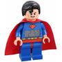 Reloj Despertador Lego Superman- Rojo Azul 24 Cms