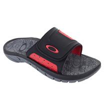 Chinelo Masculino Oakley Supercoil Slide Preto/vermelho