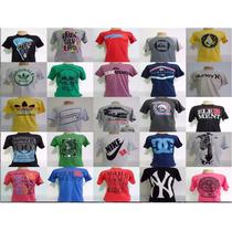 Kit 50 Camisetas Gola Redonda R$ 8,00 Cada Revenda E Lucre
