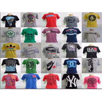 Kit 10 Camisetas Camisas Várias Marcas Famosas Aproveite!!!