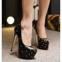 Sapato Scarpin Salto Alto 15cm Importado Lindo Sexy Sc27