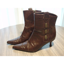 Botas New Factory - Nro. 38 - Color Chocolate Con Tachas