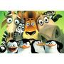 Painel Decorativo Festa Infantil Filme Madagascar (mod1)