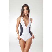 Maiô Modelos Costa Nadador Moda Praia Decote Em V Promoção