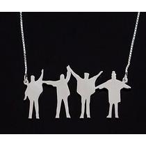 Corrente Colar The Beatles Em Prata 925 Com Estojo Veludo