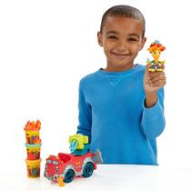 Brinquedos Menino Massinha Play Doh Caminhão Carro Bombeiros