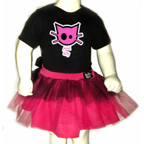 Disfraz Halloween Para Bebes - Pañalero+tutu - Gato