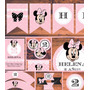 Minnie Vintage Kit Imprimible Personalizado Candy Bar Cumple