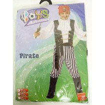 Disfraz D/pirata - Camisa, Pantalones Y Botas Talla S P/niño