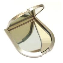 100 Espelho De Bolsa Espelho Dois Lados Prata Personalizado