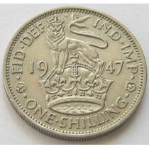 Gran Bretaña 1 Shilling Año 1947 Rey Georg Vl Xf +
