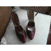 Zapatos Stilettos Cuero Taco Aguja