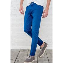 Blue Jeans Pantalon Skinny Tubito Caballero Talla 30