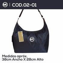 Bolso,carteras,mk,tipo,lonchamps.con Aplicaciones En Cuero
