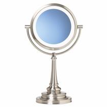 Espejo 360° De Aumento 1x Y 10x 2 En 1 Con Luz Imperfeccione