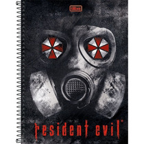 Caderno Espiral Capa Dura Resident Evil 2017 96fls