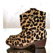 Botas Botinetas Pony Cuero Texana Animal Magma