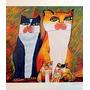Aldemir Martins - Serigrafias - Família De Gato Ll