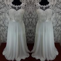 Vestido De Noiva Simples Com Segunda Pele E Renda Sob Medida