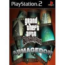 Gta San Andreas Armageddon Ps2 Patch Com Capa E Impressão
