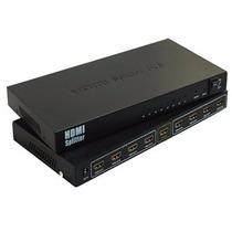 Splitter Hdmi Divisor Amplificador 1080p Fullhd 3d 8 Salidas