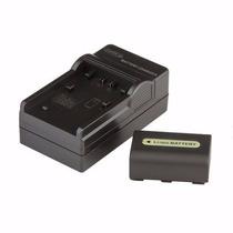 Kit Bateria Np-fh50 + Carregador P/ Sony Cyber-shot Dsc-hx1