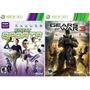 2 Jogos Xbox360 Original Kinect Sports + Gears Of War 3