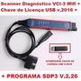 Scania Diagnóstico Vci3 Wifi + Chave De Licença Usb V.2016++