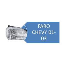 Faro Izquierdo Y Derecho De Chevy 01-03 Liso