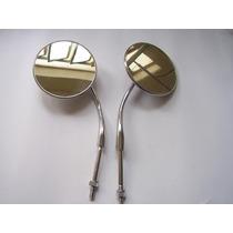 Retrovisor Espelho Pino De Porta Redondo Fusca Fusquinha