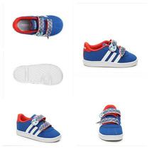 Zapatillas Adidas Neo Con Abrojo Importadas ¡nuevas!