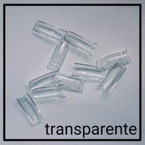 100 Tips Sorriso Unha Postiça Acrigel Porcelana Transparente